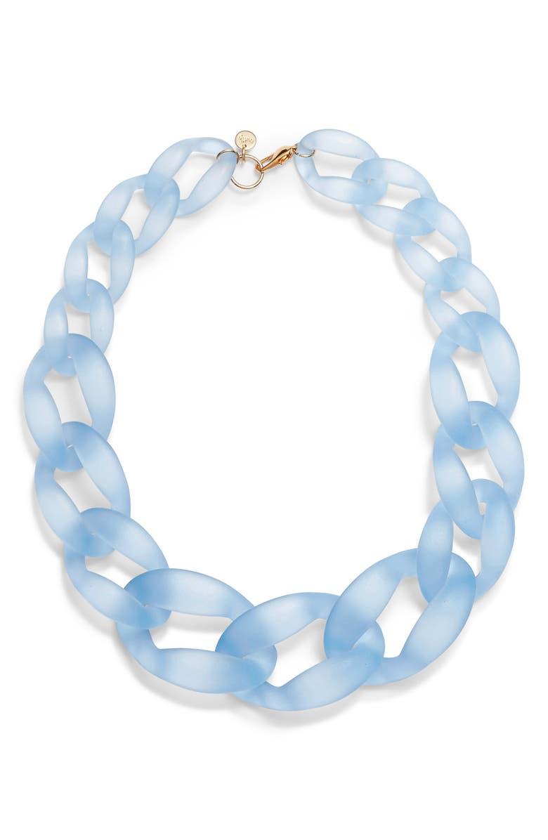 KNOTTY Links Necklace, Main, color, BLUE
