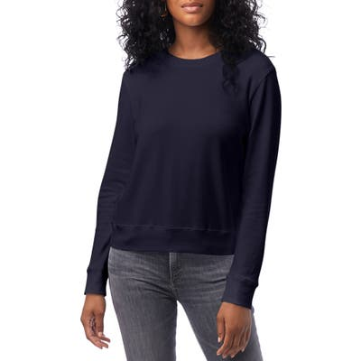 Alternative Cotton Blend Interlock Sweatshirt, Blue