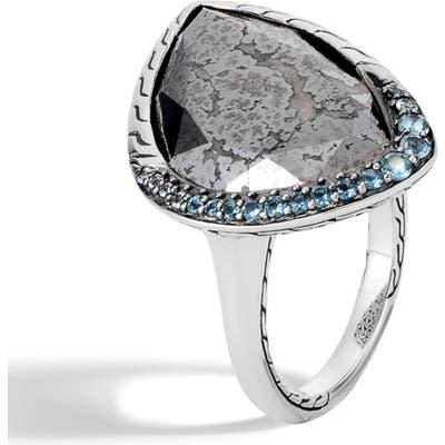 John Hardy Classic Chain London Blue Topaz Ring