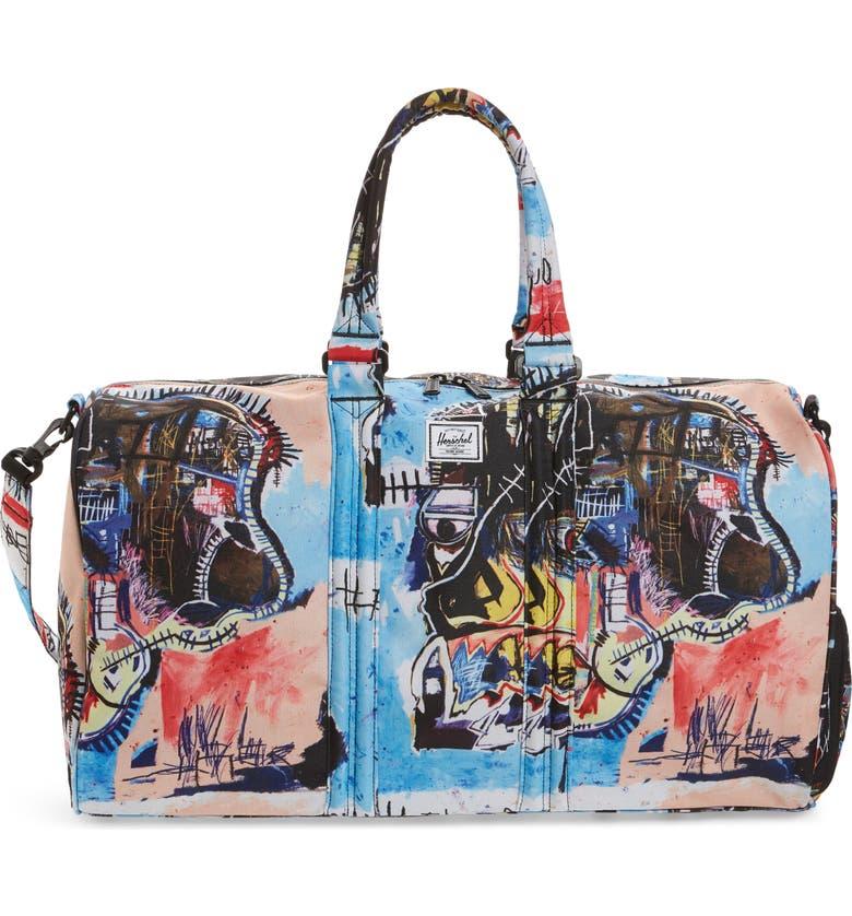 HERSCHEL SUPPLY CO. Basquiat Novel Duffle Bag, Main, color, BASQUIAT SKULL