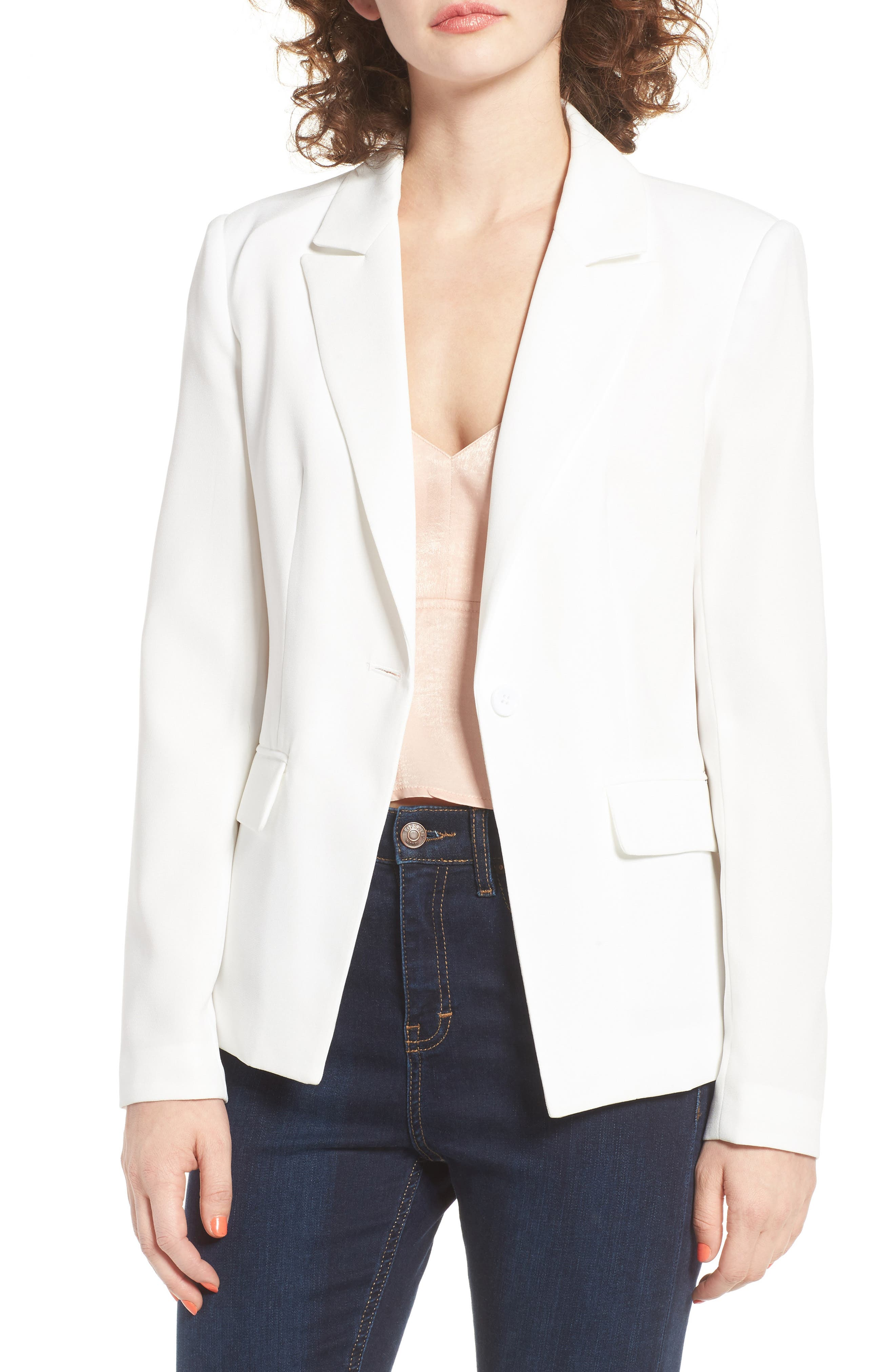 ,                             Structured Blazer,                             Main thumbnail 6, color,                             100