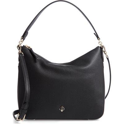 Kate Spade New York Medium Polly Leather Shoulder Bag - Black