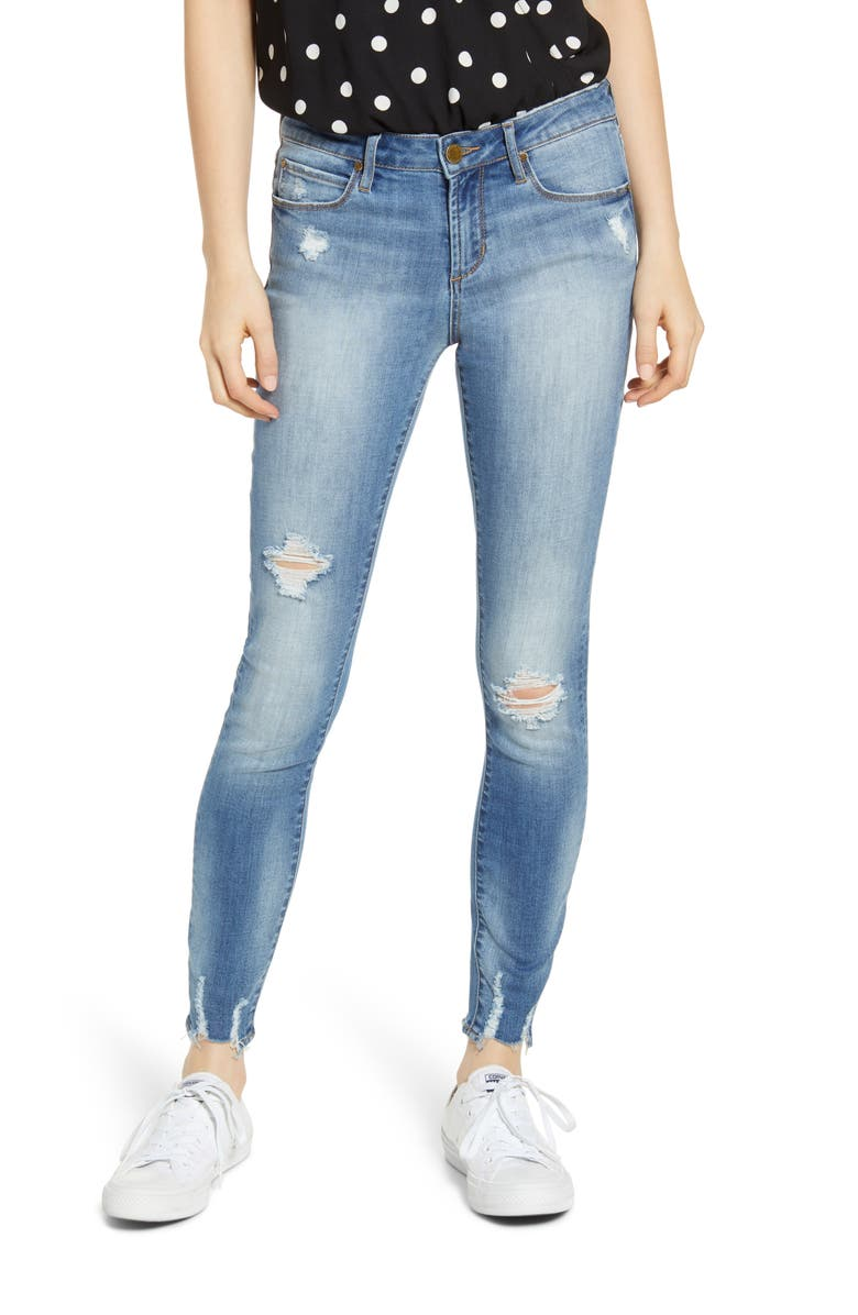 ARTICLES OF SOCIETY Sarah Distressed Skinny Jeans, Main, color, 400