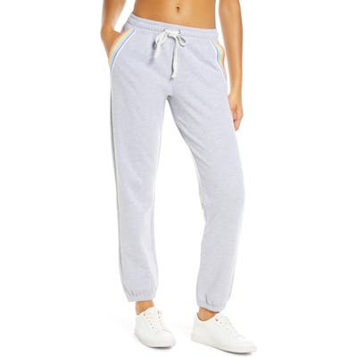 Soul By Soulcycle Rainbow Inset Sweatpants, Grey