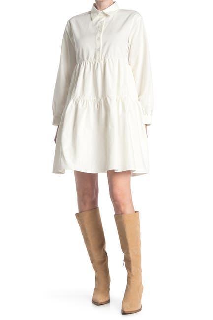 Image of MELLODAY Long Sleeve Babydoll Dress