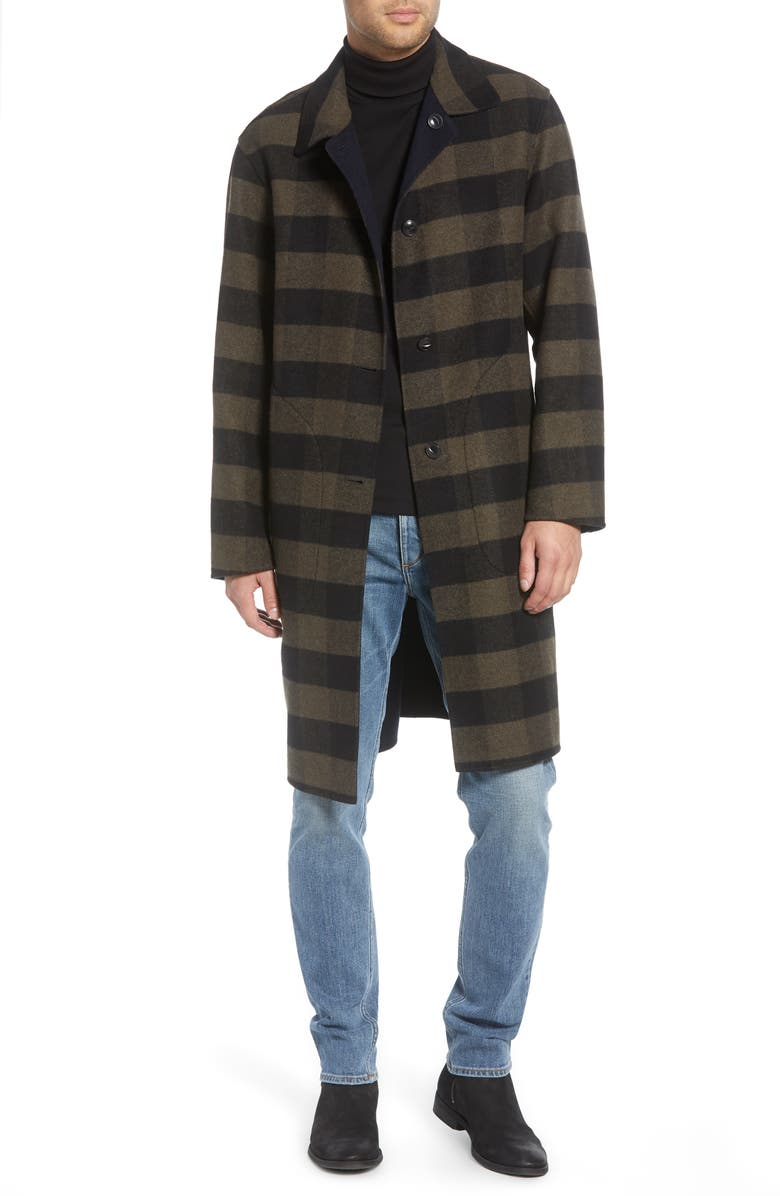 RAG & BONE Brent Reversible Wool Blend Coat, Main, color, BLACK/ARMY
