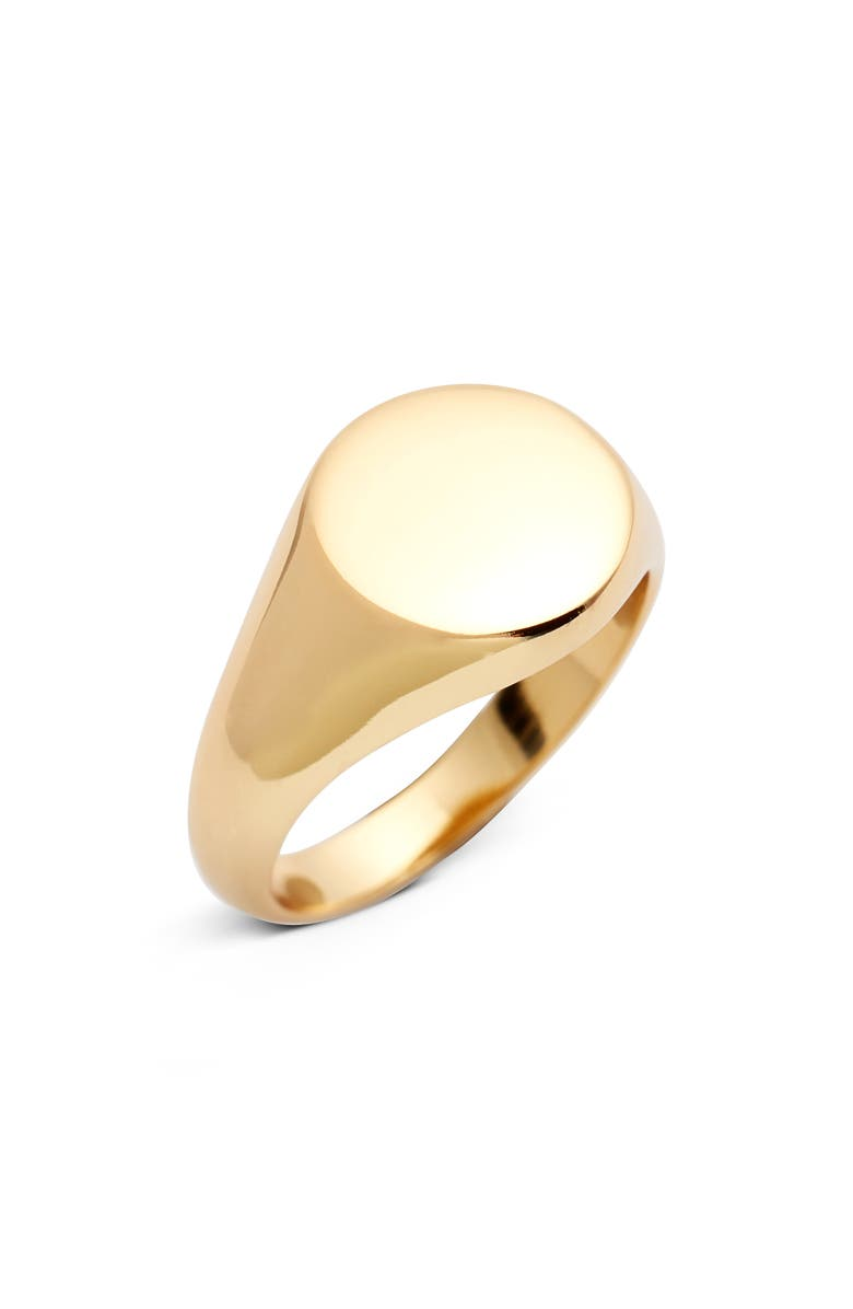 ARGENTO VIVO Signet Ring, Main, color, GOLD