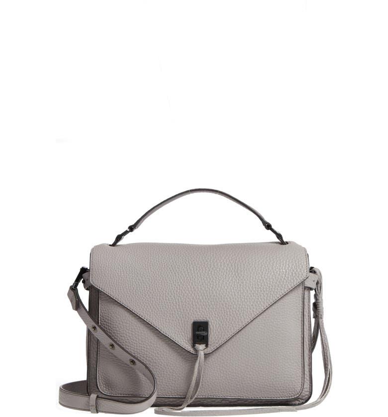REBECCA MINKOFF Darren Leather Messenger Bag, Main, color, 020