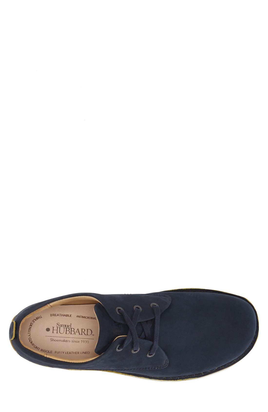 ,                             'Free' Plain Toe Derby,                             Alternate thumbnail 3, color,                             NAVY NUBUCK