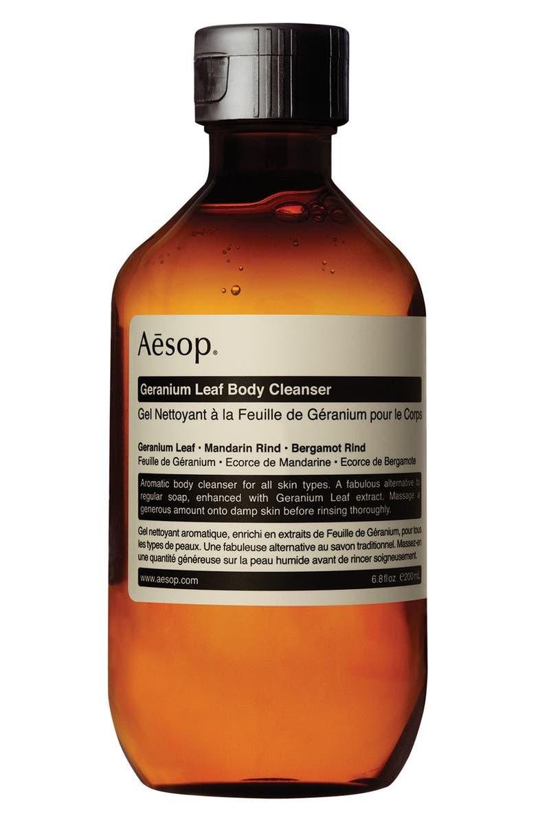 AESOP Geranium Leaf Body Cleanser, Main, color, CAP