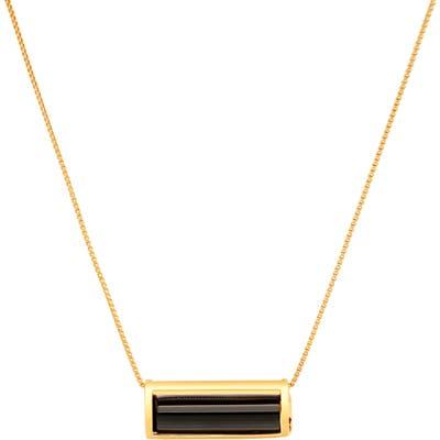 Conges Protection Black Tourmaline Barrel Pendant Necklace
