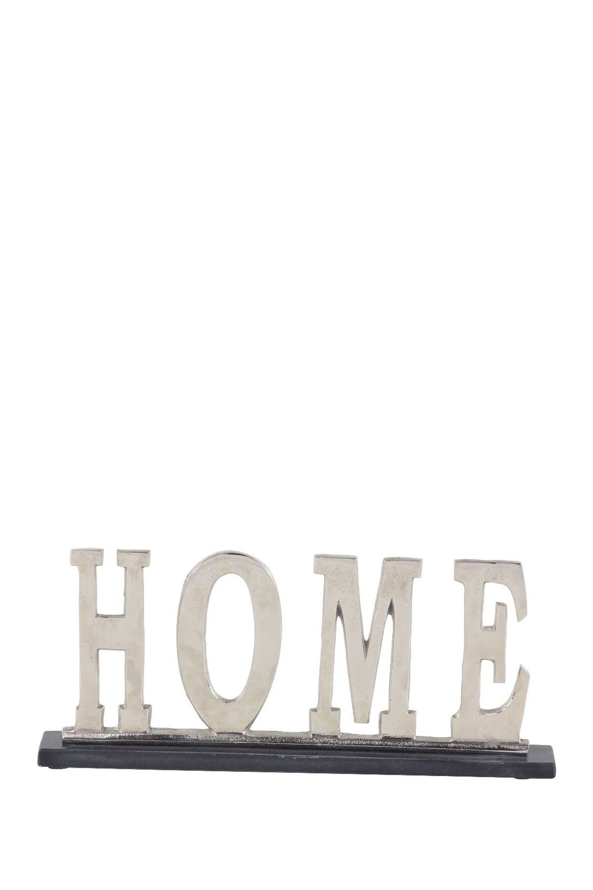 Image of Willow Row Modern Silver Aluminum & Marble Home Sign Decor