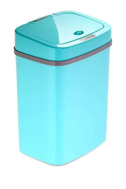 Image of NINESTARS Teal Blue Motion Sensor Trash Can - 12 liters