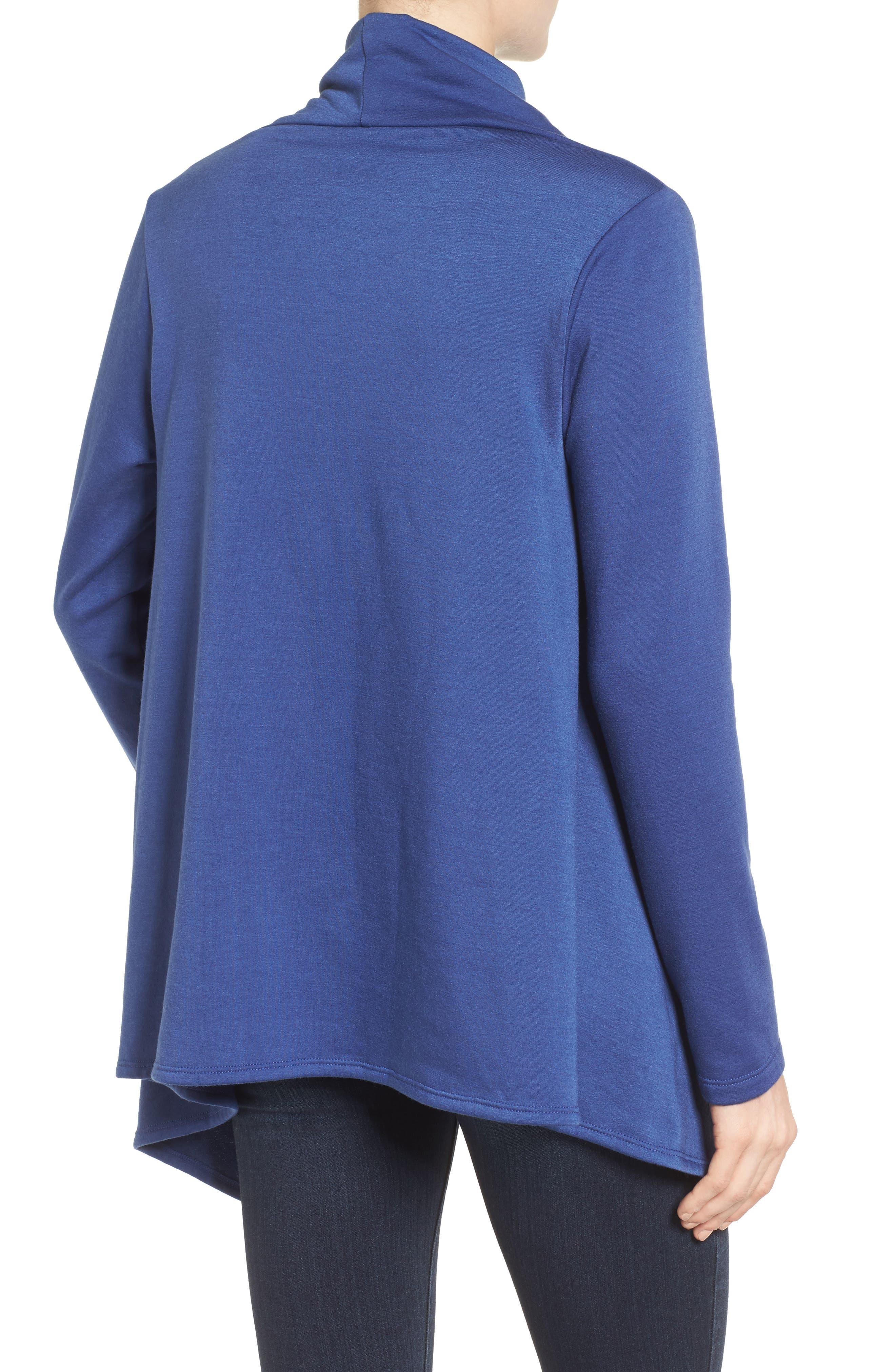 ,                             One-Button Fleece Wrap Cardigan,                             Alternate thumbnail 160, color,                             479