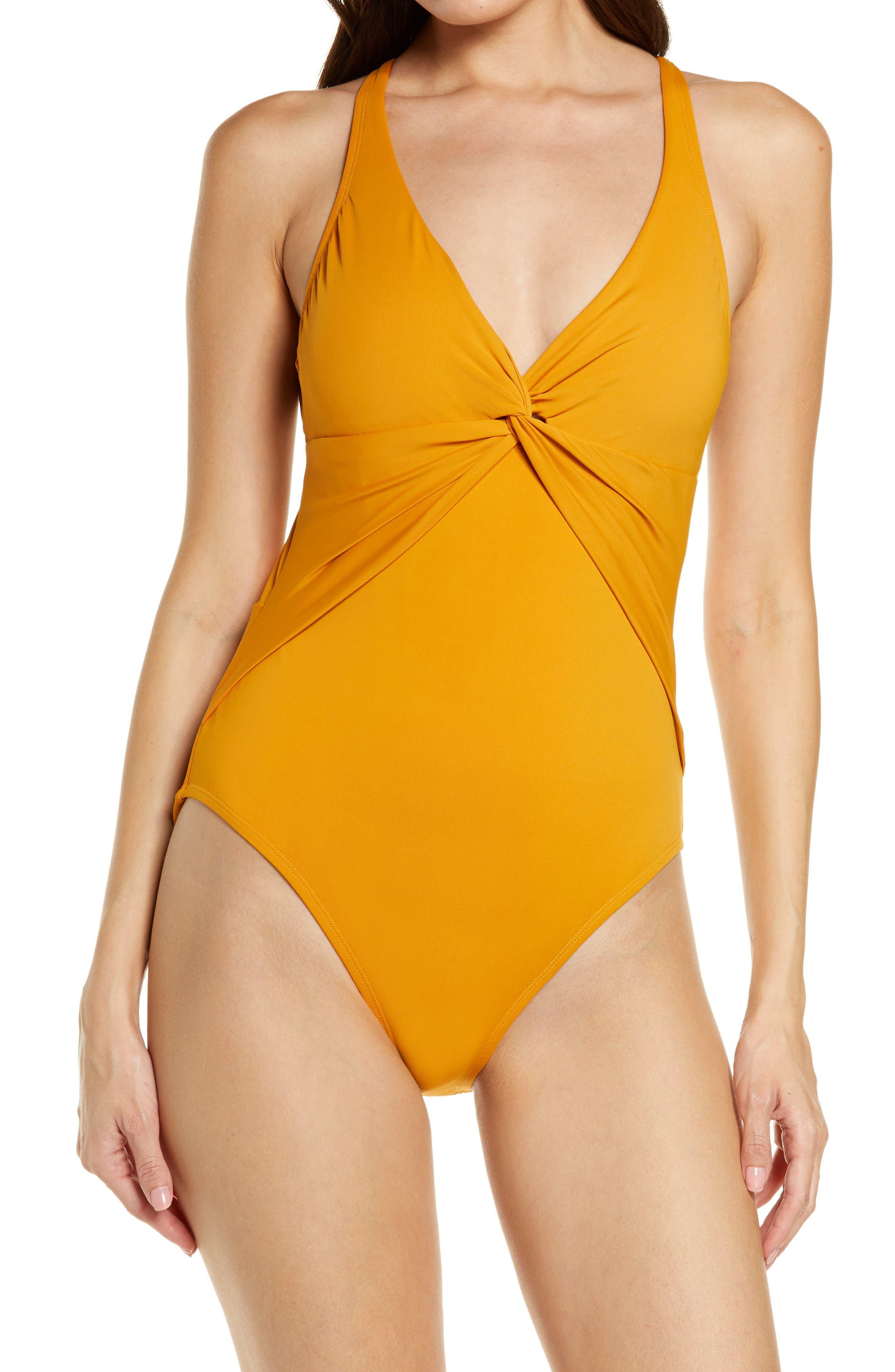 Twist & Shout Plunge One-Piece Swimsuit
