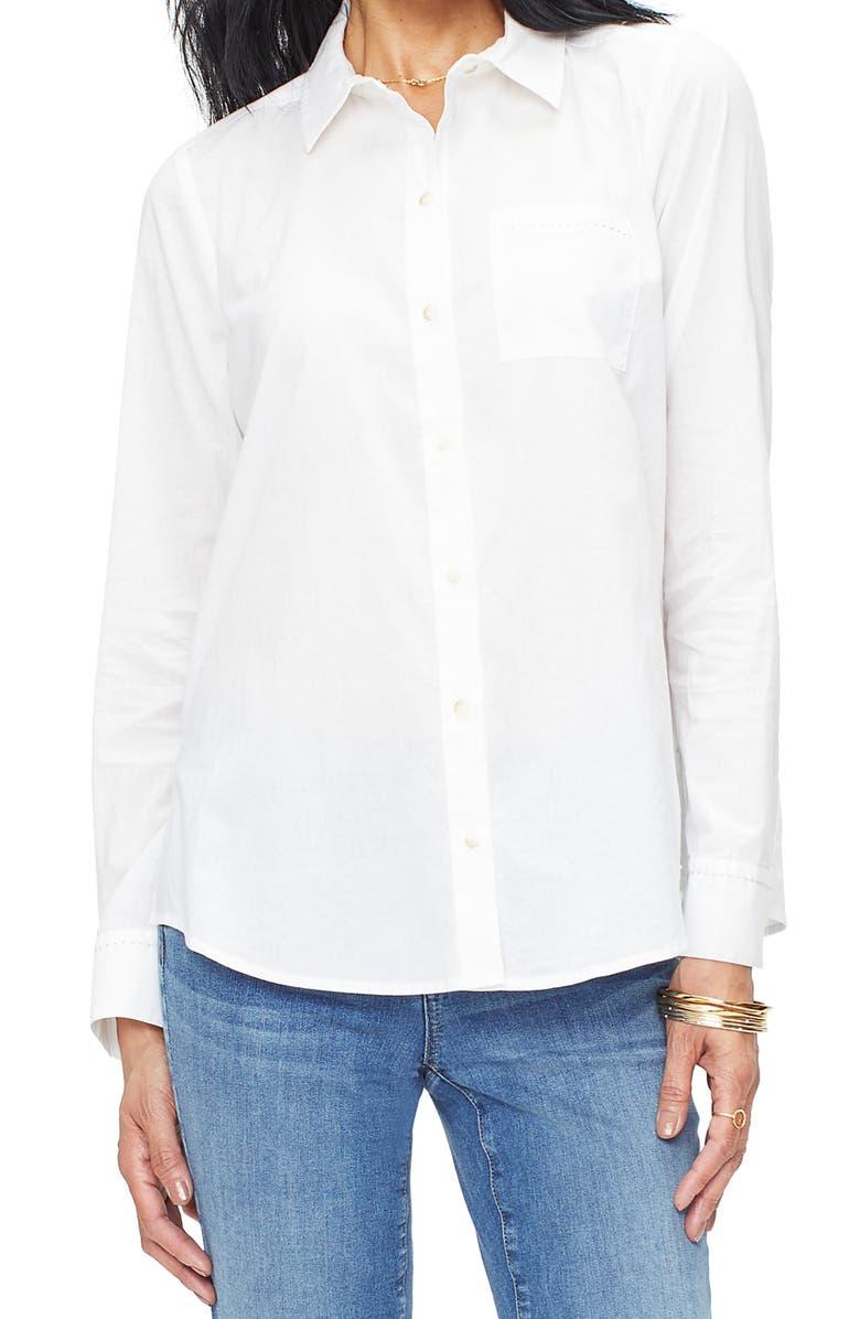 NYDJ A-Line City Shirt, Main, color, OPTIC WHITE