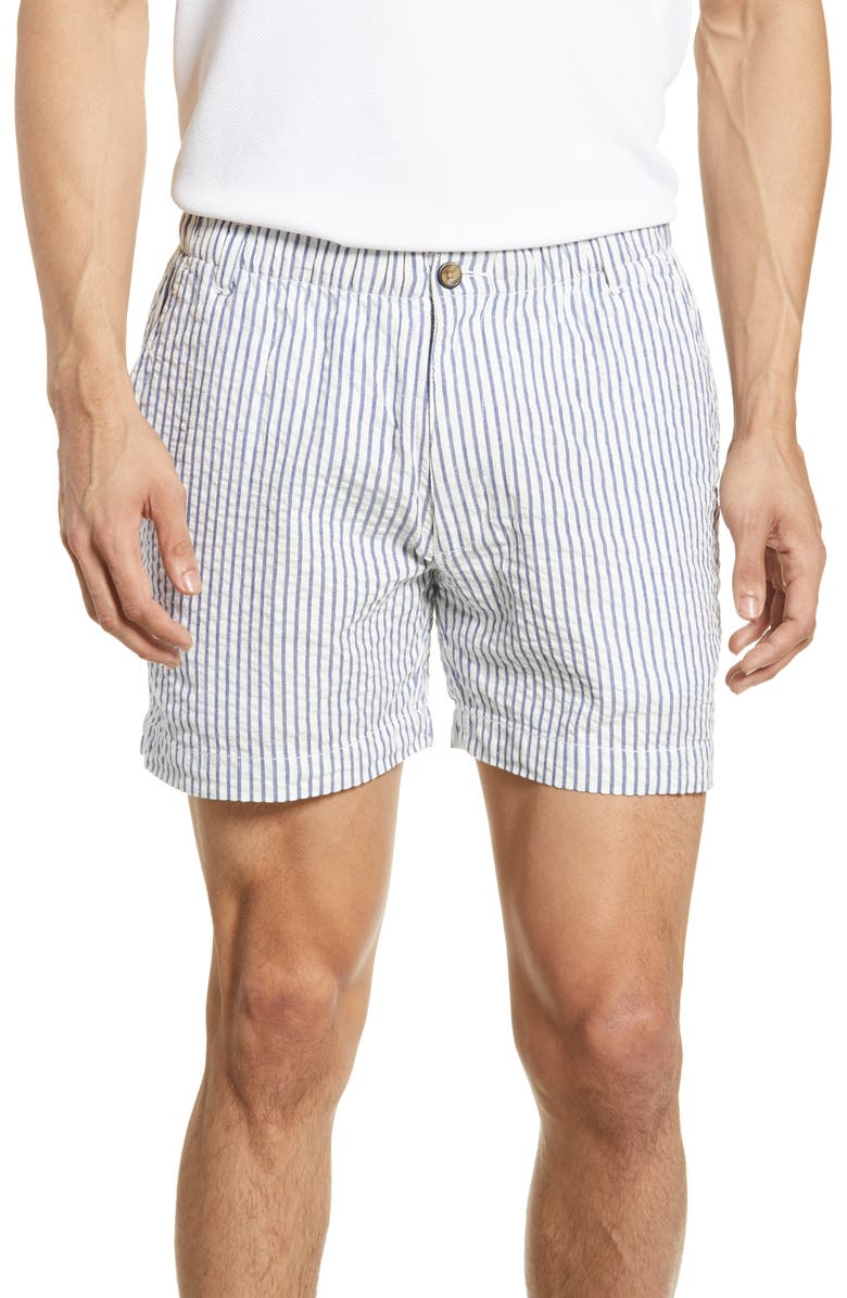 Snappers Seersucker Shorts by Vintage 1946
