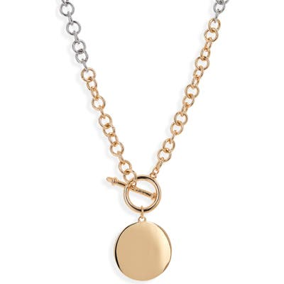 Bp. Two Tone Toggle Pendant Necklace