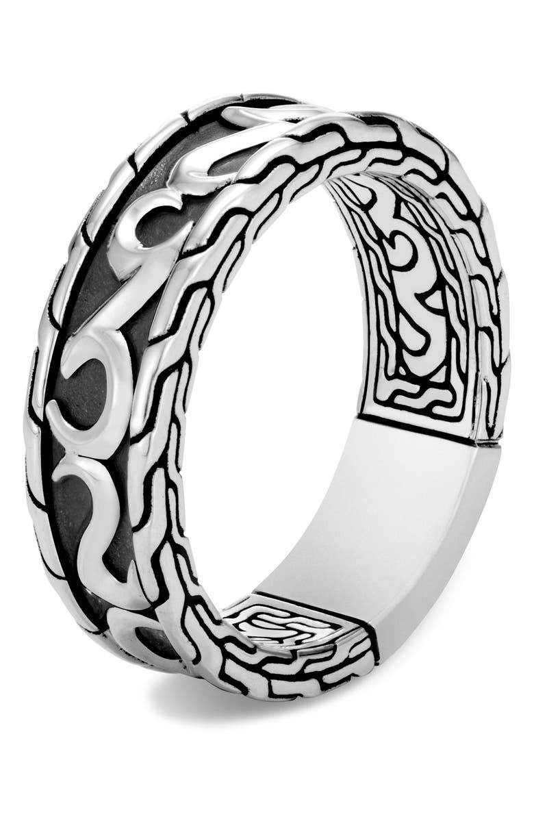 JOHN HARDY Men's Classic Chain Band Ring, Main, color, SILVER