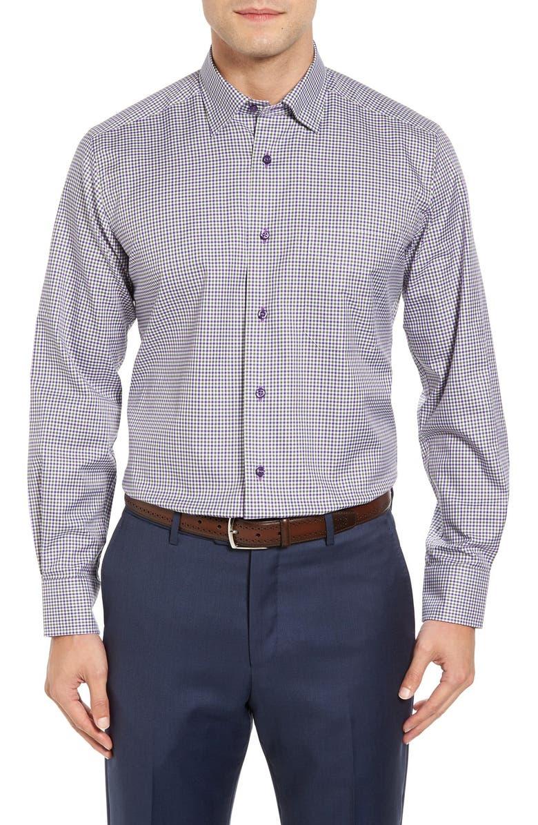 DAVID DONAHUE Regular Fit Check Sport Shirt, Main, color, 513