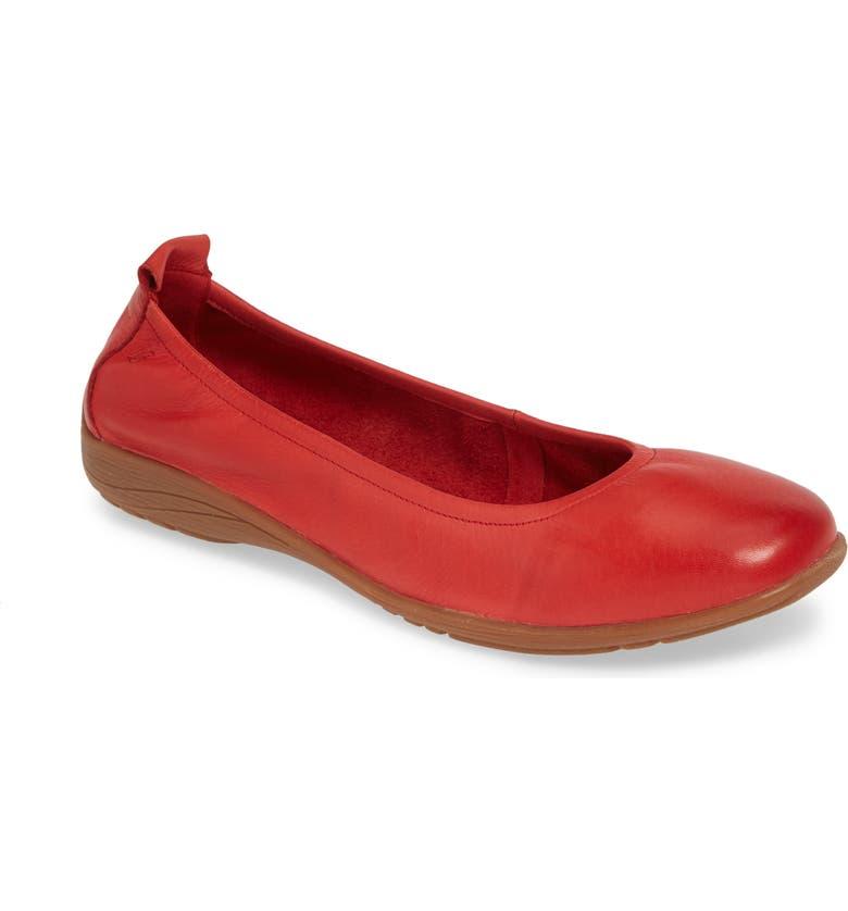JOSEF SEIBEL Fenja 01 Flat, Main, color, RED LEATHER