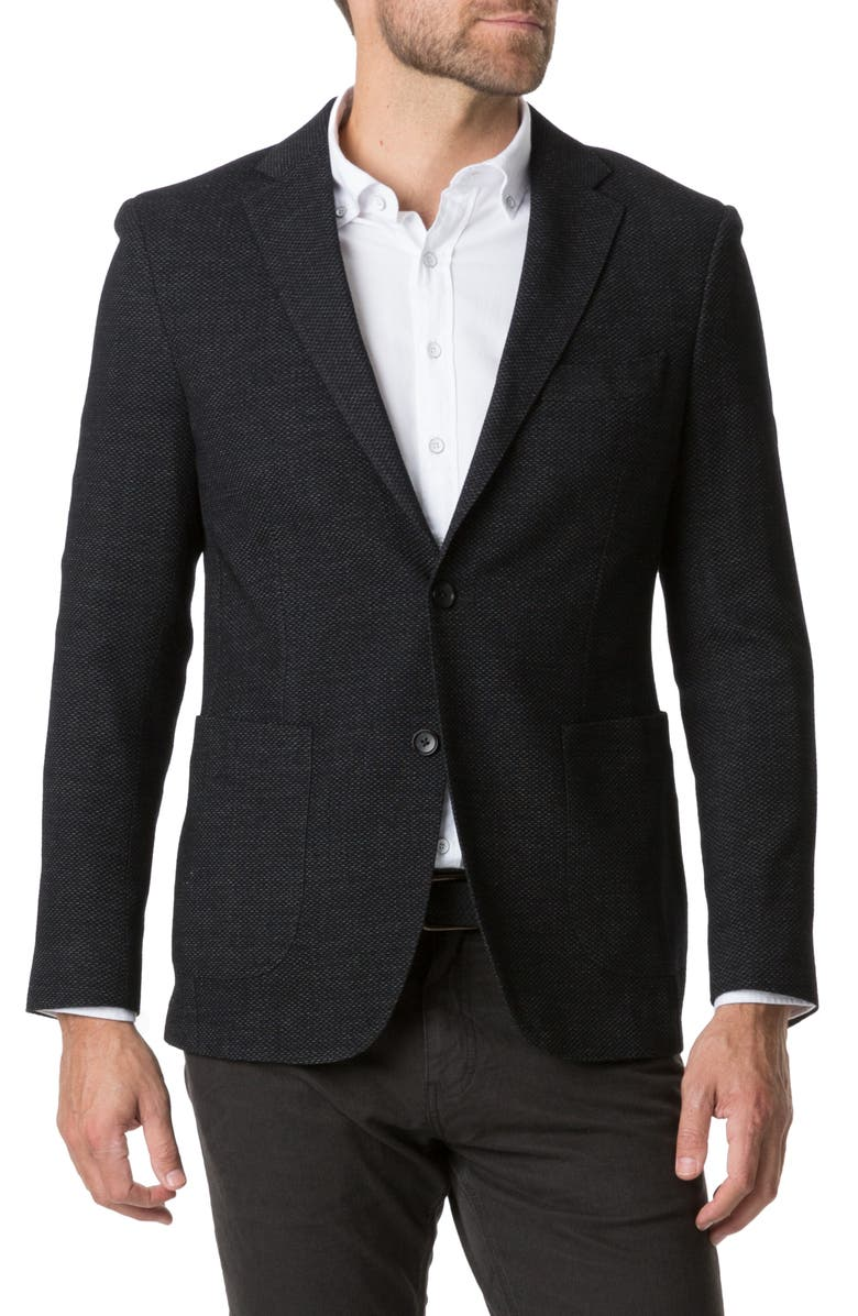 RODD & GUNN Haldon Regular Fit Stretch Wool & Cotton Sport Coat, Main, color, ONYX
