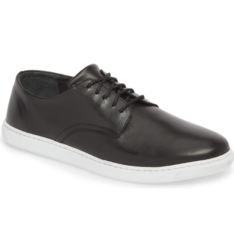 VINCE CAMUTO Nok Derby Sneaker, Main, color, BLACK LEATHER