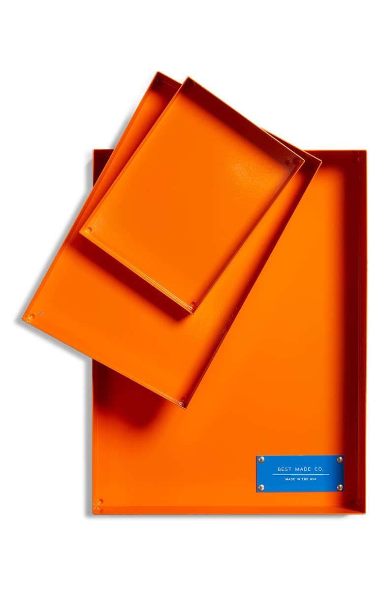 BEST MADE CO. Spare Parts 3-Piece Tray Set, Main, color, STANDARD ORANGE