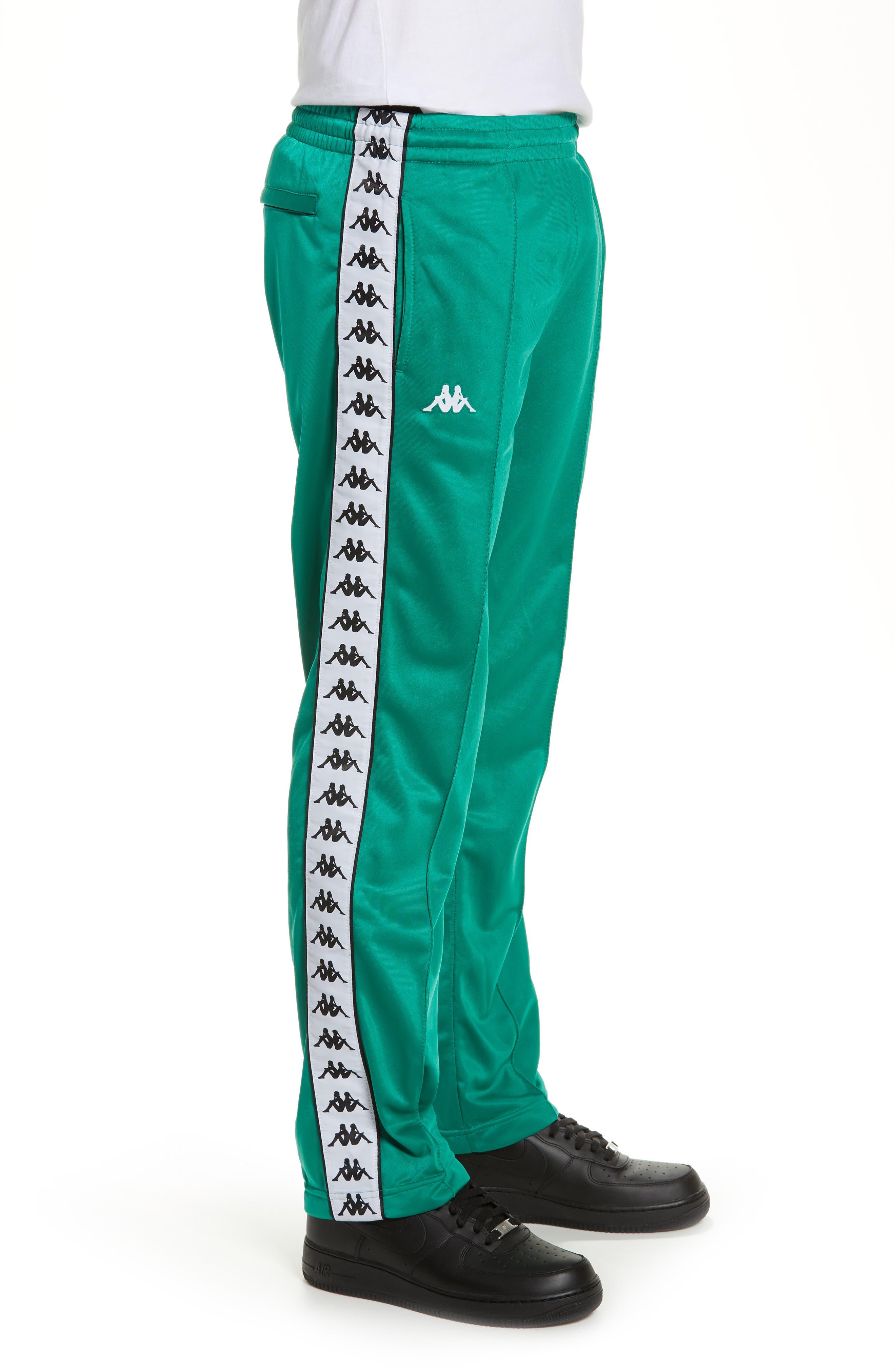 ,                             Active 222 Banda Astoriazz Slim Track Pants,                             Alternate thumbnail 4, color,                             GREEN/ BLACK/ WHITE