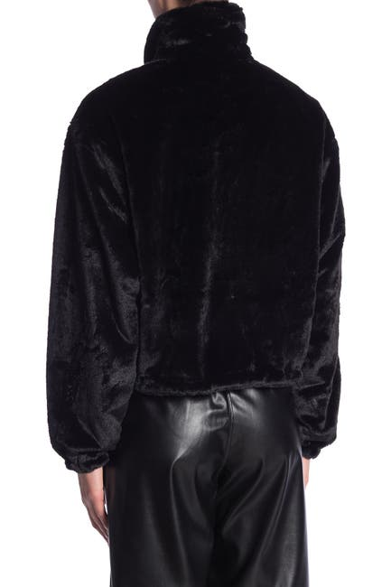 Image of Know One Cares Faux Fur Cropped Jacket