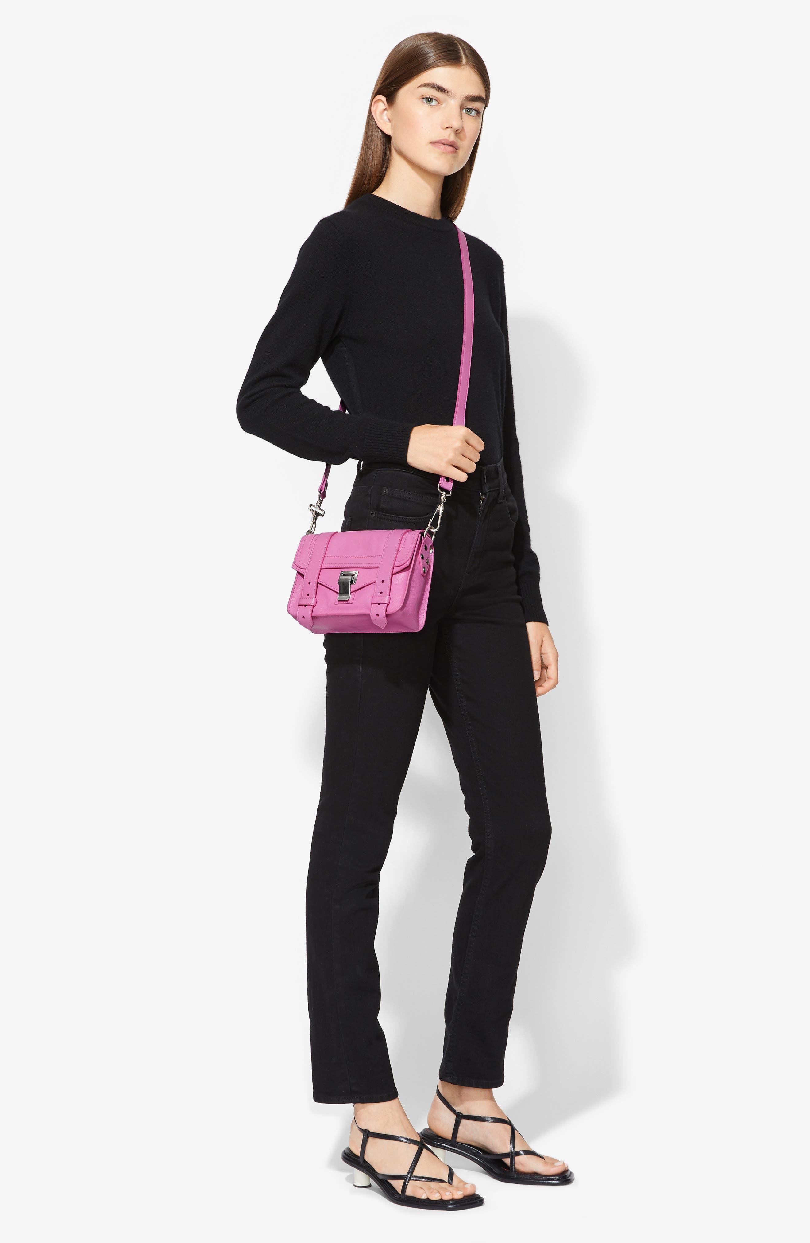 ,                             'Mini PS1' Lambskin Leather Crossbody Bag,                             Alternate thumbnail 7, color,                             652