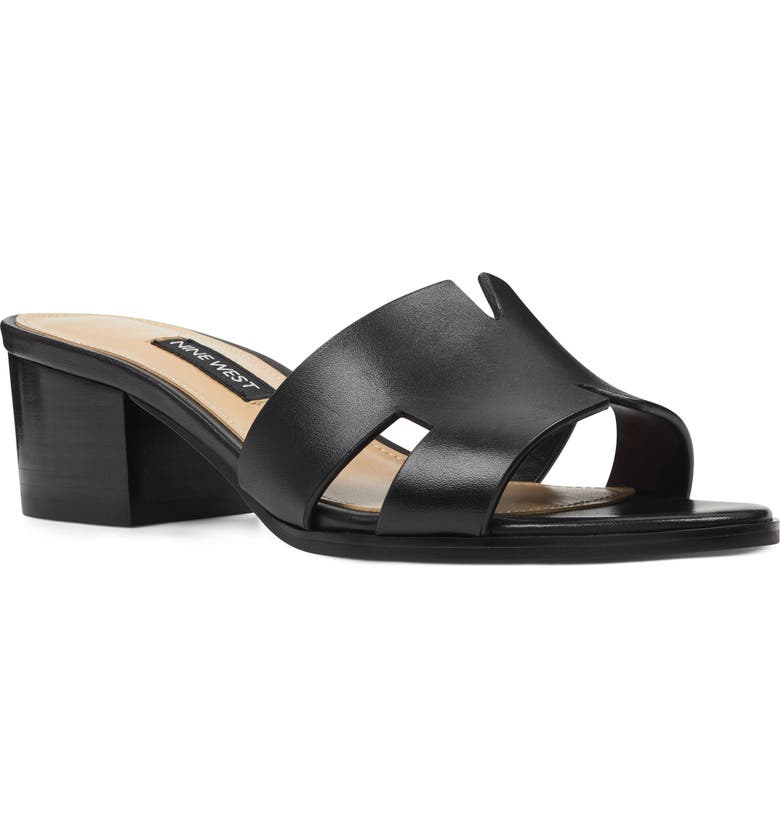 NINE WEST Aubrey Cutout Slide Sandal, Main, color, 001