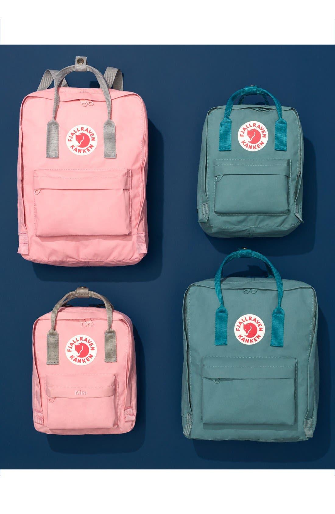 ,                             Kånken Water Resistant Backpack,                             Alternate thumbnail 8, color,                             DAHLIA