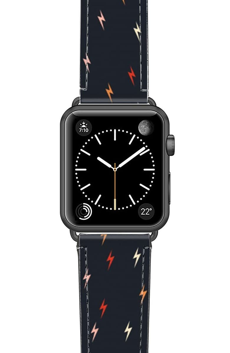 Casetify Pass The Bolt Saffiano Faux Leather Apple Watch Strap
