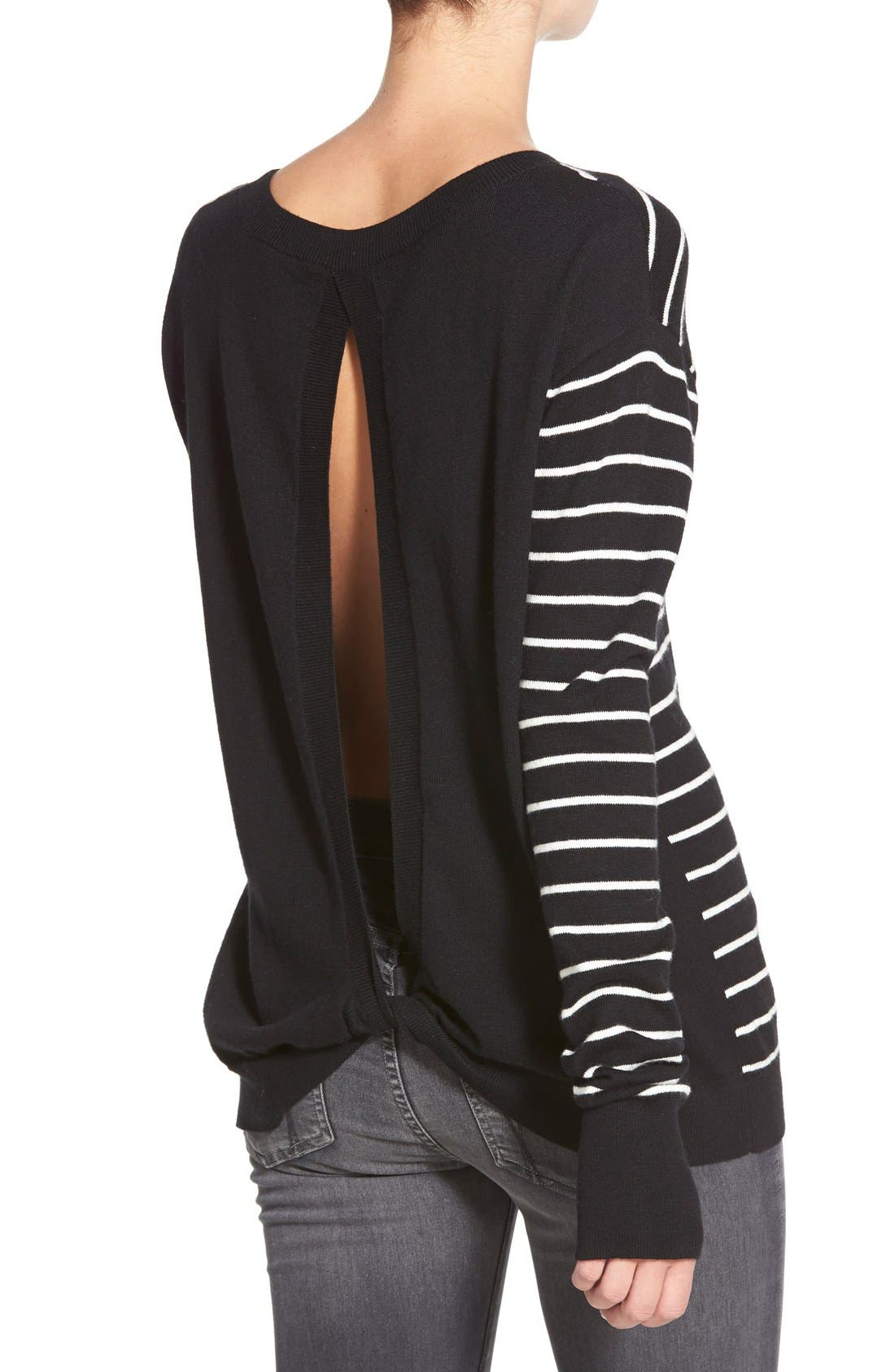 ,                             Twisted Back Pullover,                             Alternate thumbnail 5, color,                             001