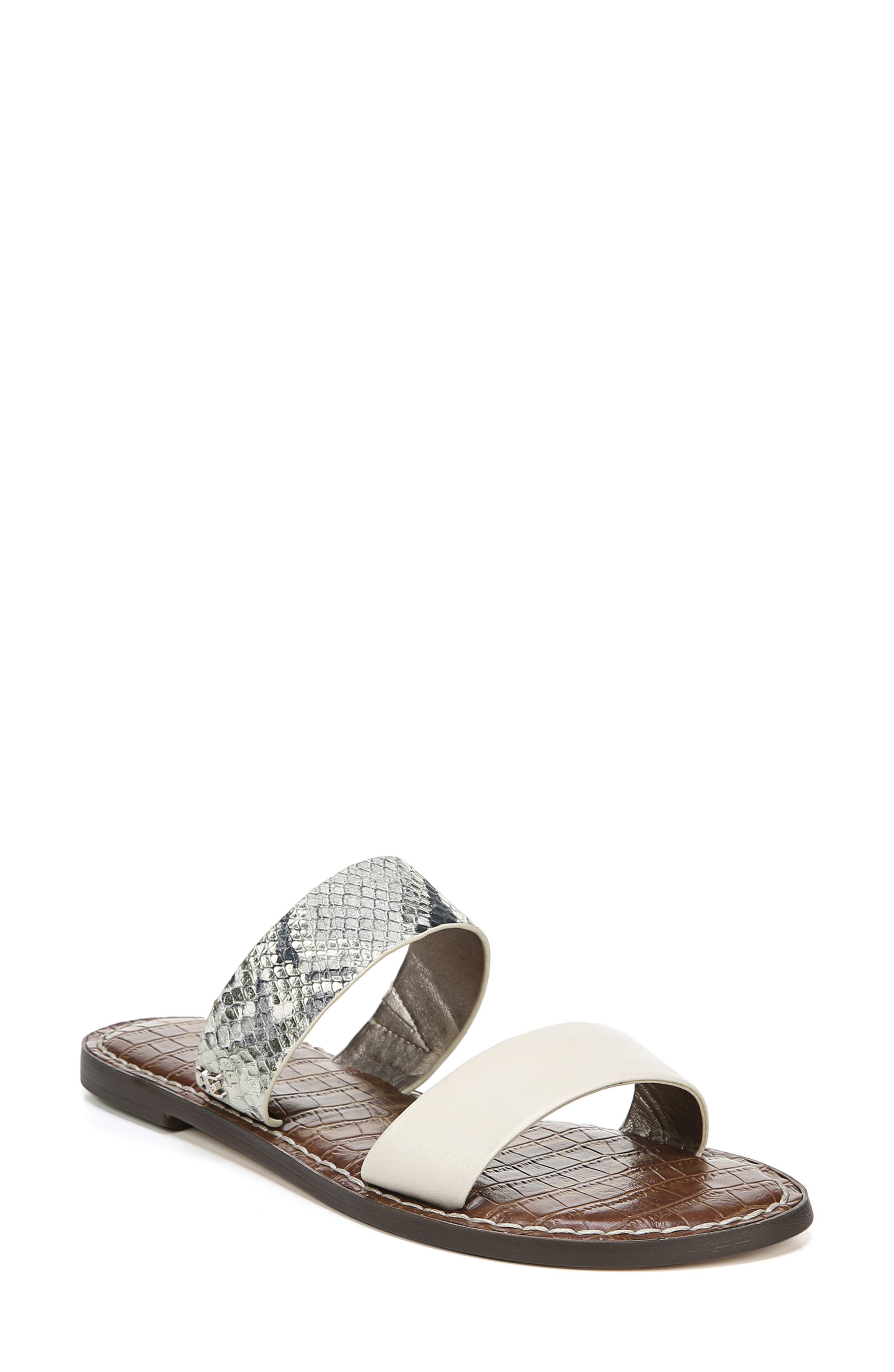 Sam Edelman Gala Two Strap Slide Sandal- Grey