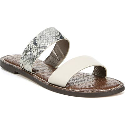 Sam Edelman Gala Two Strap Slide Sandal, Grey