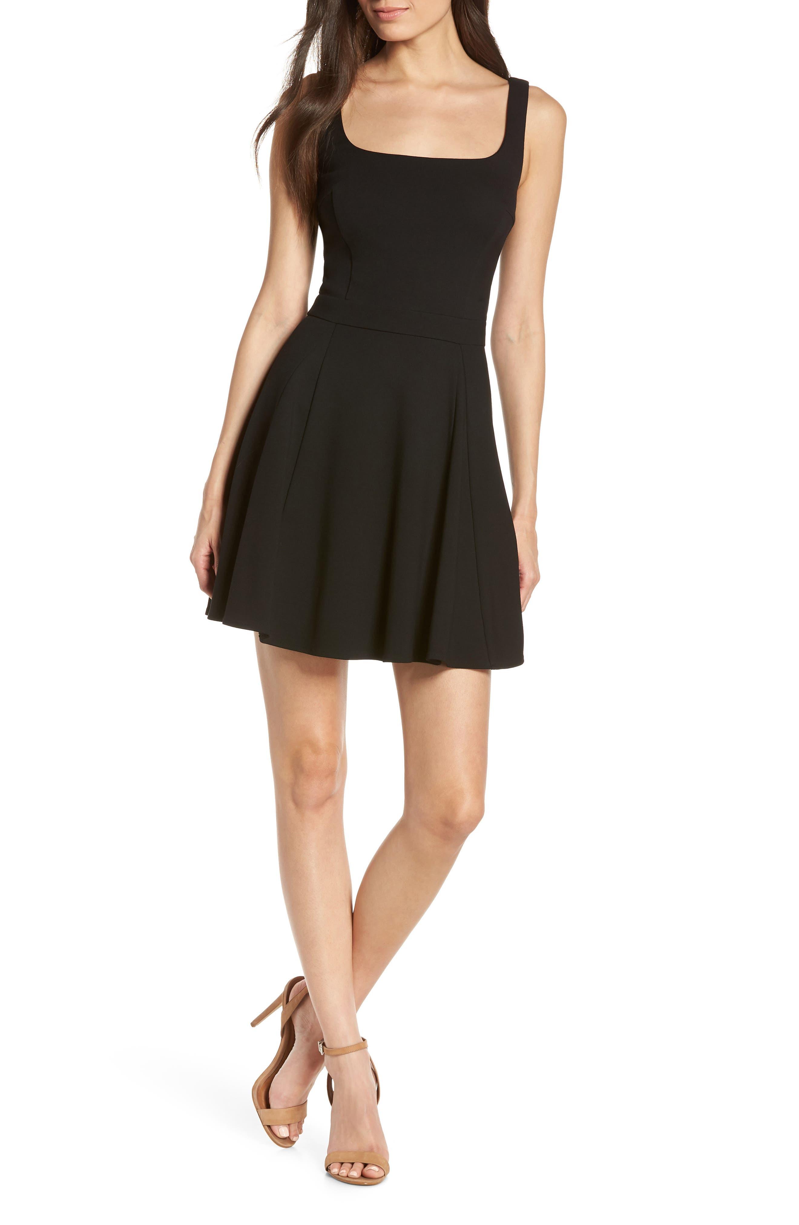 Ali & Jay Broadway Fit & Flare Minidress, Black