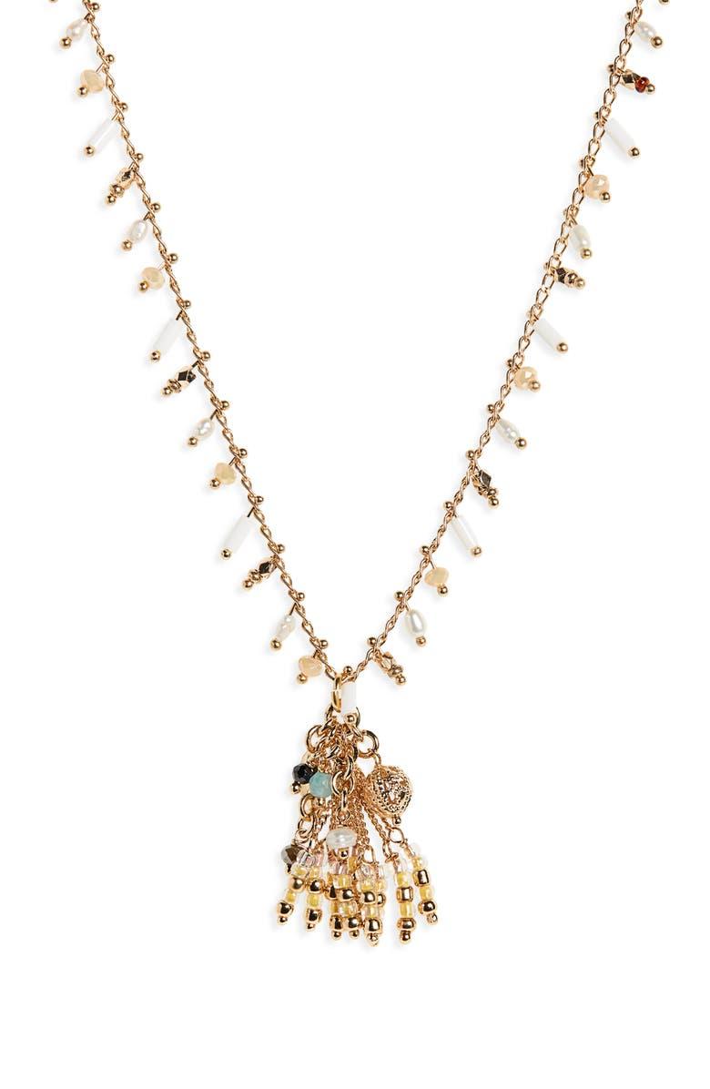 GAS BIJOUX Gipsette Beaded Necklace, Main, color, 100