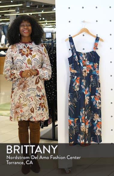 Stevie Print Culotte Jumpsuit, sales video thumbnail