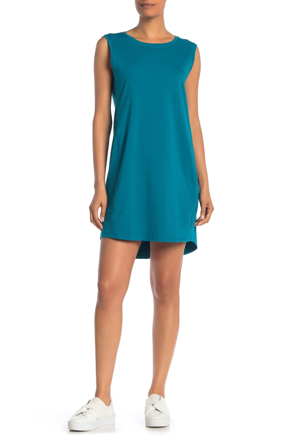 Image of Eileen Fisher Scoop Neck Sleeveless Dress