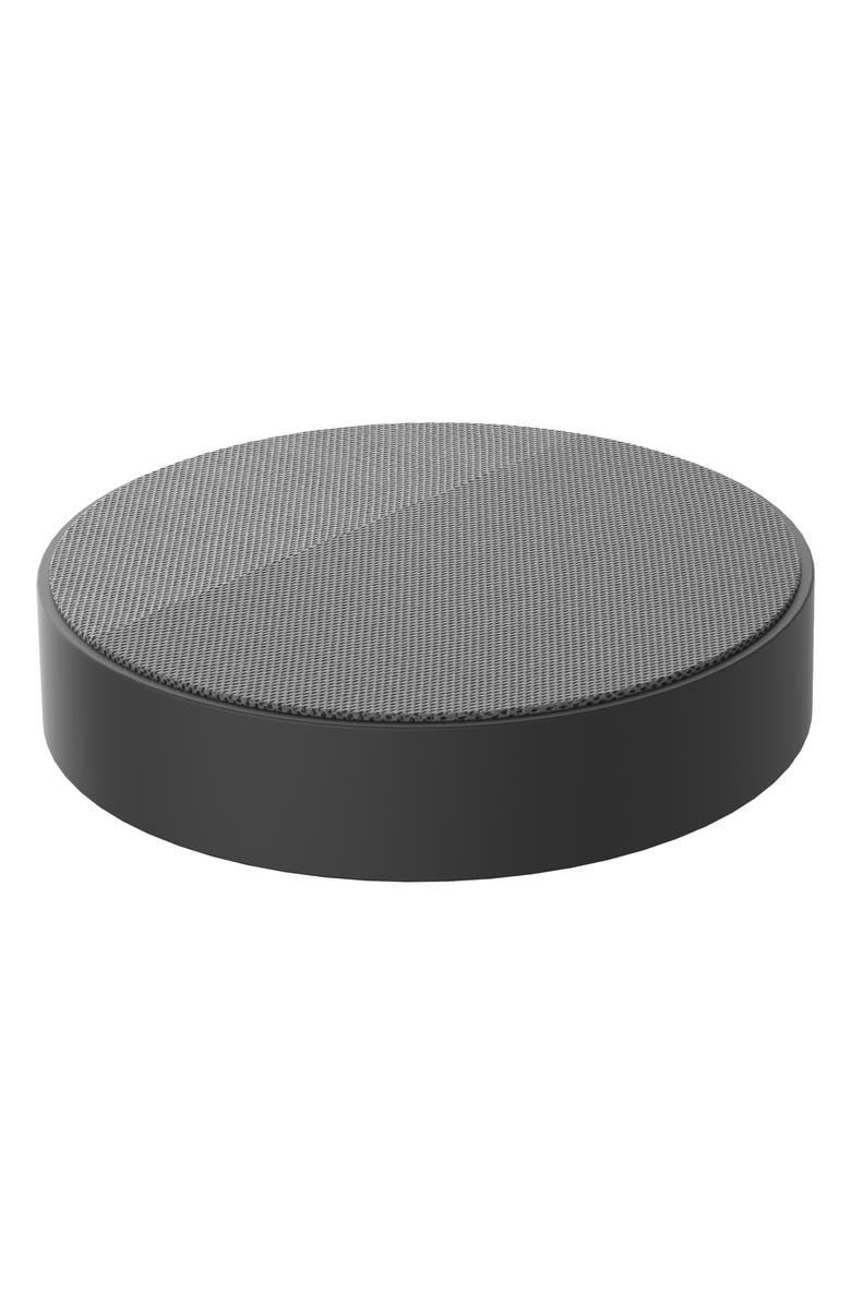 LEXON Oslo Energy Wireless Charging Pad & Bluetooth<sup>®</sup> Speaker, Main, color, DARK GREY/ LIGHT GREY
