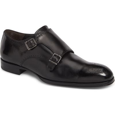 To Boot New York Crown Double Monk Strap Shoe, Black