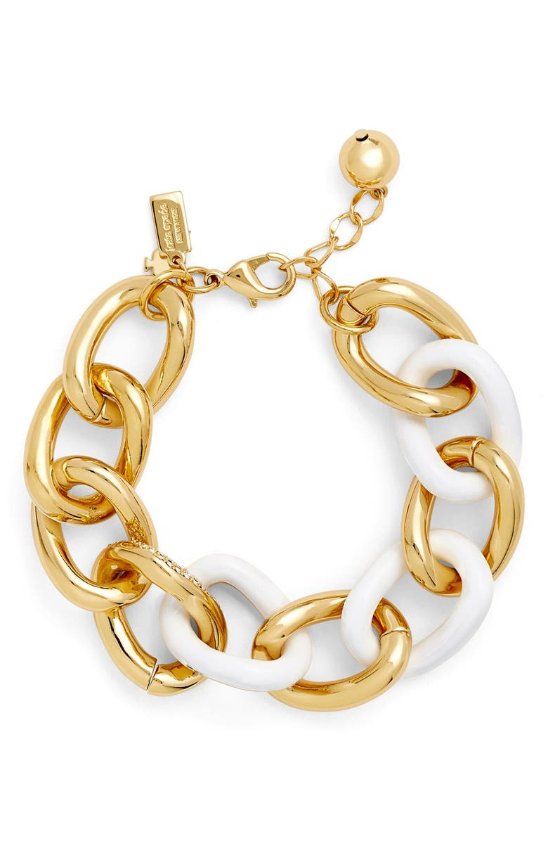 KATE SPADE NEW YORK 'chain of events' link bracelet, Main, color, 100