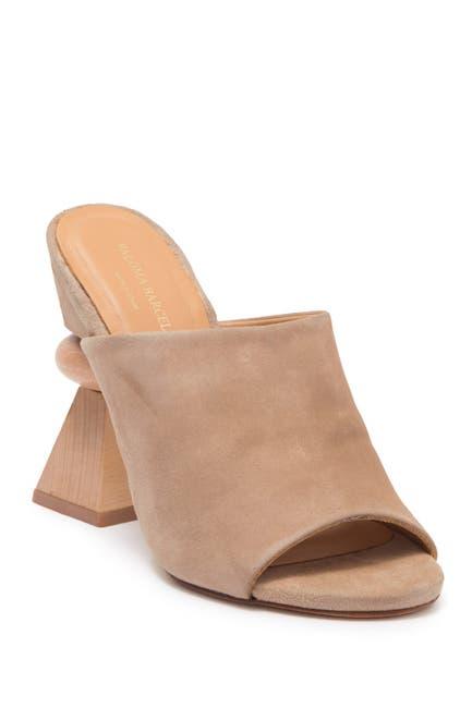 Image of Paloma Barcelo Athena Leather Geometric Block Heel Mule