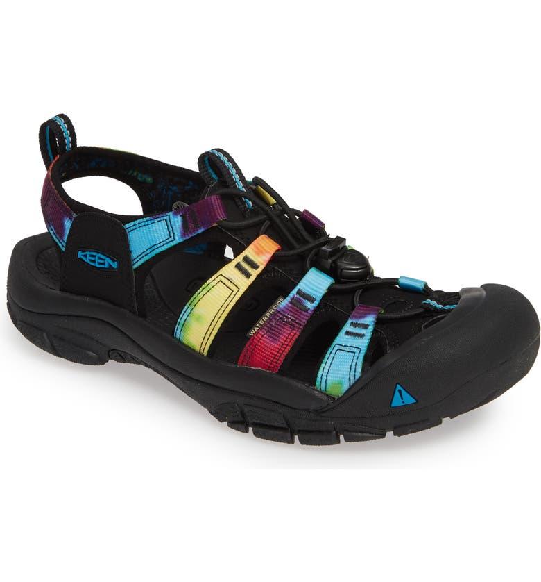 KEEN Newport Retro Water Sandal, Main, color, ORIGINAL TIE DYE FABRIC