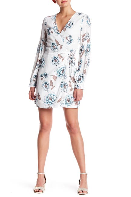 Image of EVERLY Long Sleeve Floral Wrap Dress