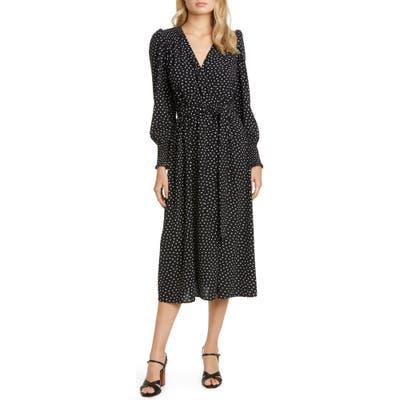 Kate Spade New York Heartbeat Long Sleeve Belted Dress, Black