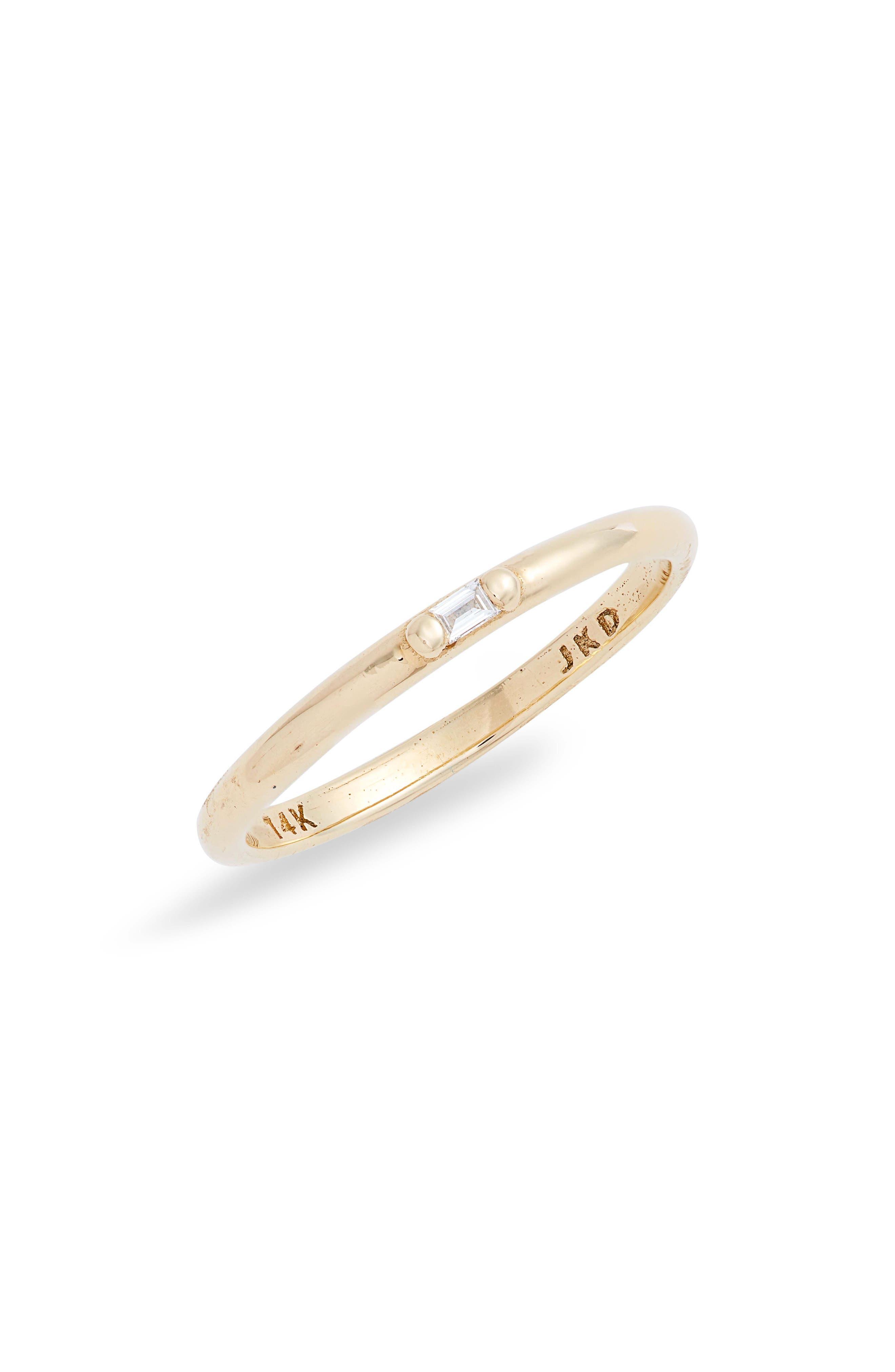 Diamond Baguette Accent Ring