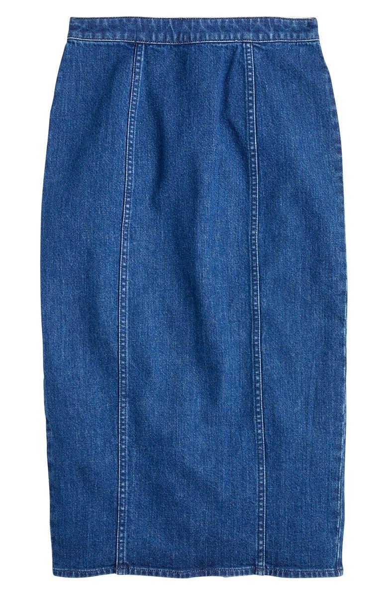 J.CREW Clean Pencil Skirt, Main, color, 400